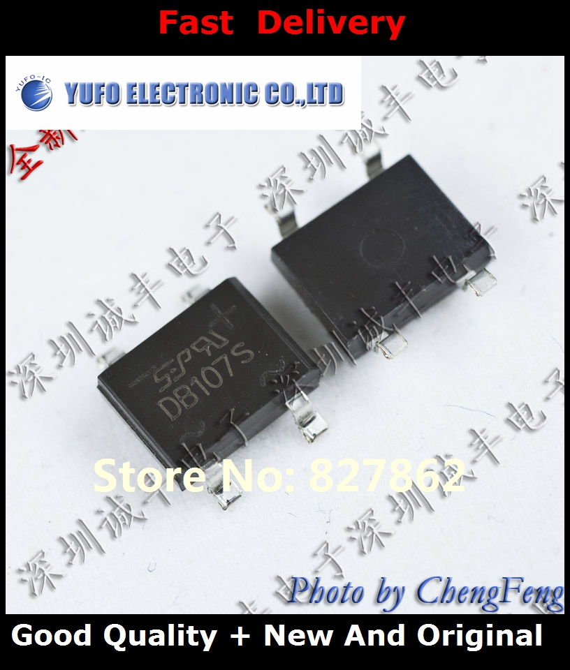 Free Shipping 50PCS DB107S DB107 SEP SOP-4 new original authentic (YF1201)
