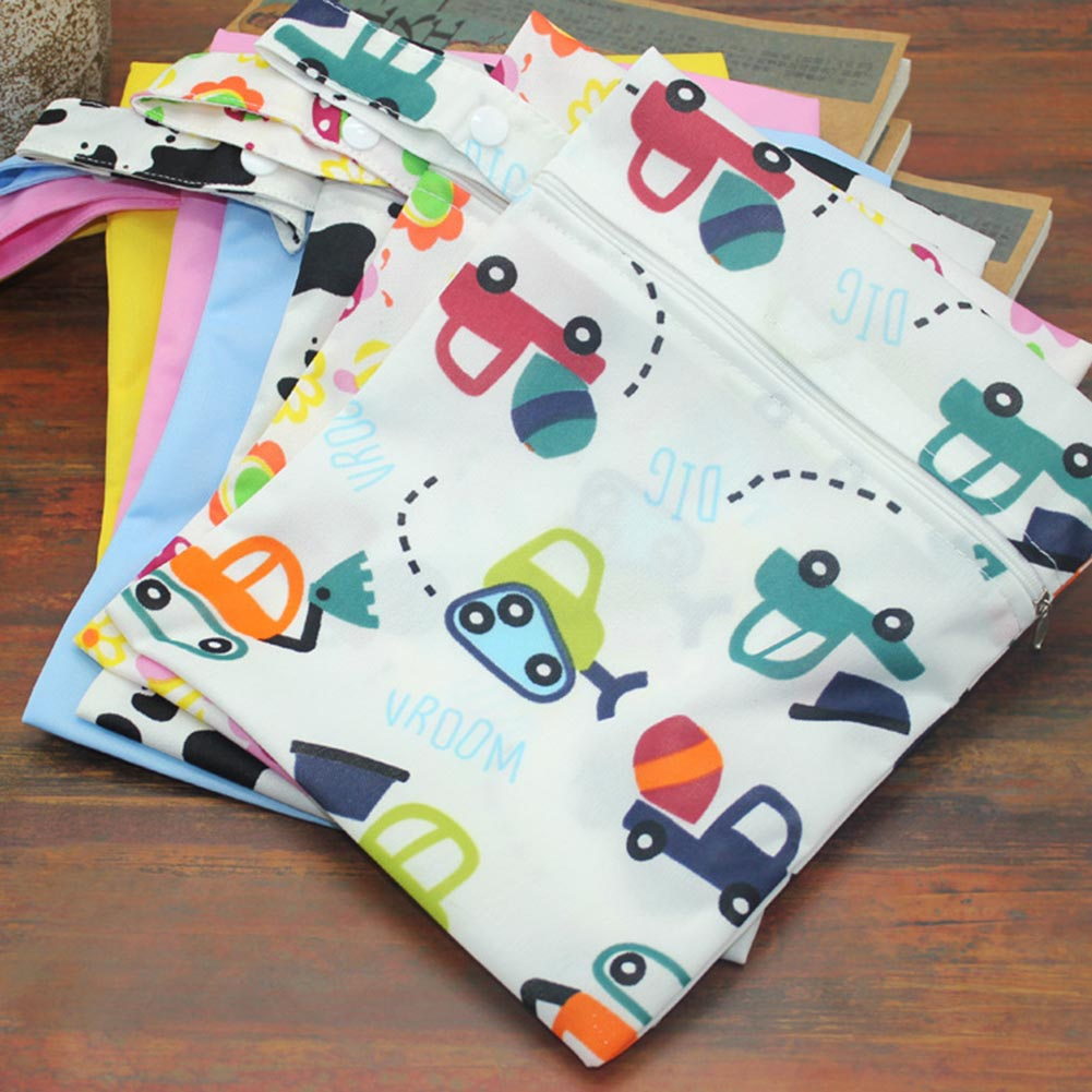 Waterproof Baby Diaper Bags Reusable Washable Zipper Baby Cloth Diaper Wet Dry Bag Swimer Tote for Baby Nappy Storage fashion useful diaper bags waterproof reusable zipper baby cloth diaper wet dry bag swimer tote