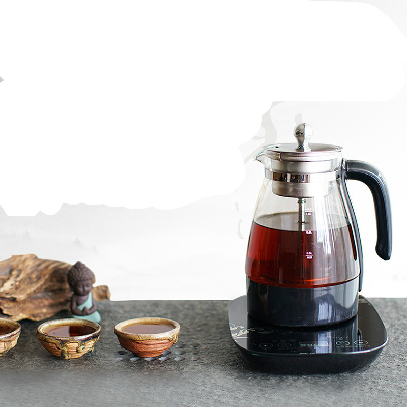 Electric kettle Black tea boiled electric pot of pu er machine automatic glass steam cooking Overheat Protection
