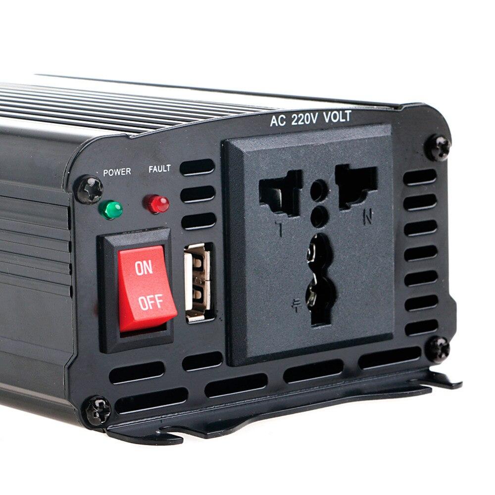 Solar Power Inverter 600W Spitzen 12V DC Zu 230V AC Modifizierte Sinus Welle Konverter