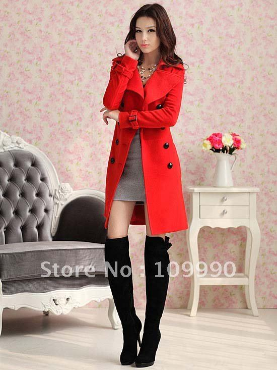 e97ed8276498 Belt clothing warm women slim long-sleeved classic long-coat lady new  fashion double-breasted plus size XL sexy elegant handsome
