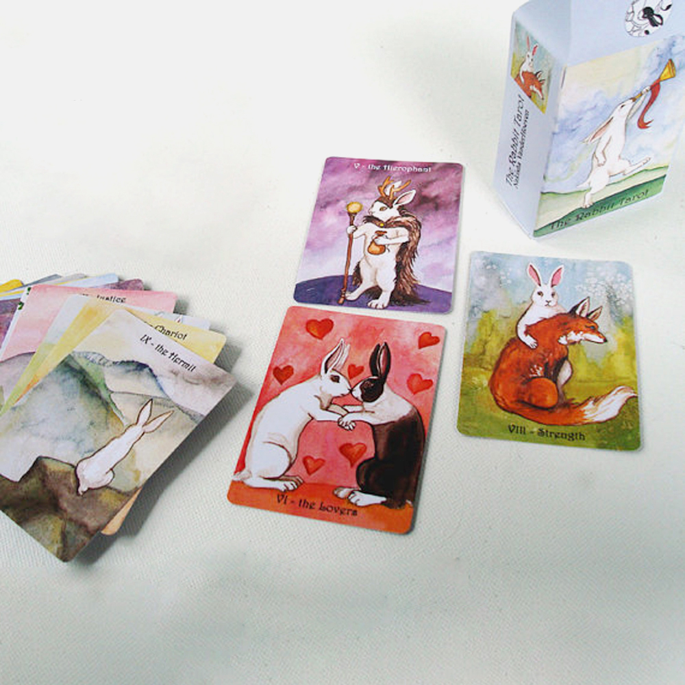 High Quality 100% New Rabbit Tarot cards set board game card - 5