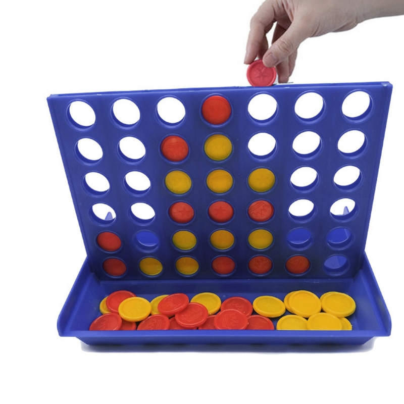 Classic Connect 4 Game Master Foldable Kids Children Line Up Row Board Toys Girl Boy Gift