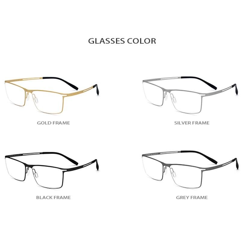 B titane lunettes cadre hommes 2019 carré myopie optique cadres lunettes pour hommes mémoire lumière coréen sans vis lunettes 1175 - 5