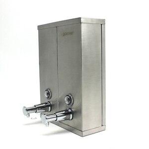 Image 2 - DONYUMMYJO New Chrome Finished Wall Mounted Soap Sanitizer Bathroom Washroom Shower Shampoo Dispenser
