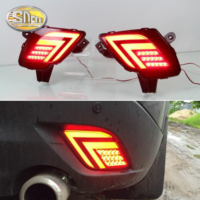 SNCN Multi function LED Reflector Lamp Rear Fog Lamp Rear Bumper Light Brake Light For Mazda