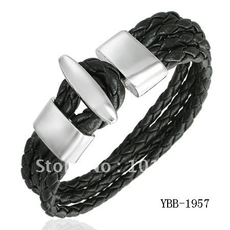 Wholesale Top Selling Fashion Bracelet men Real leather quality bangle,cheap price leather bracelet