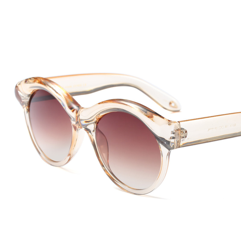 2018 Hot Sale Fashion oval uv400 wrap Metal street shot retro Men women Sunglasses Vintage Brand star Designer Ladies PC-096