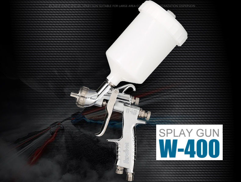 HVLP Air Spray Gun W-400-142G 1.4MM Gravity feed Auto Paint Car Primer with 600cc cup W400 spray gun jiacai w 71 gravity spray gun manual paint gun 1 0 1 3 1 5 1 8mm car furniture auto painting coating spray gun with 400cc cup