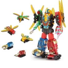 Transformation insekter Deformation Action Figur Robot Children's Educational Legetøj fem-i-en Kombination Power Ranger Set
