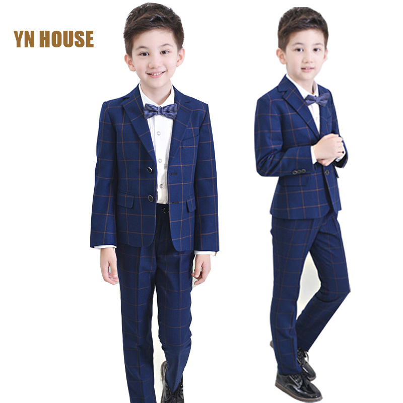2017 Boys Jackets+Shirts+Pant+Tie Clothing Set Suits For Wedding Kids Prom Clothes Boy Costume Dress brand groom Suits Blazer 2017 new boys clothing set camouflage 3 9t boy sports suits kids clothes suit cotton boys tracksuit teenage costume long sleeve