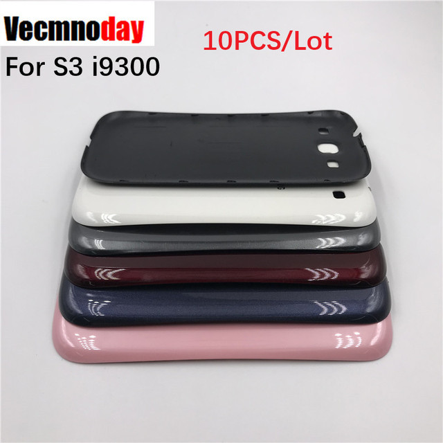 Vecmnoday 10PCS Phone Cover Case For Samsung Galaxy S3 i9300 Case Cover SIII GT-i9300 Battery Door Housing Repair Parts