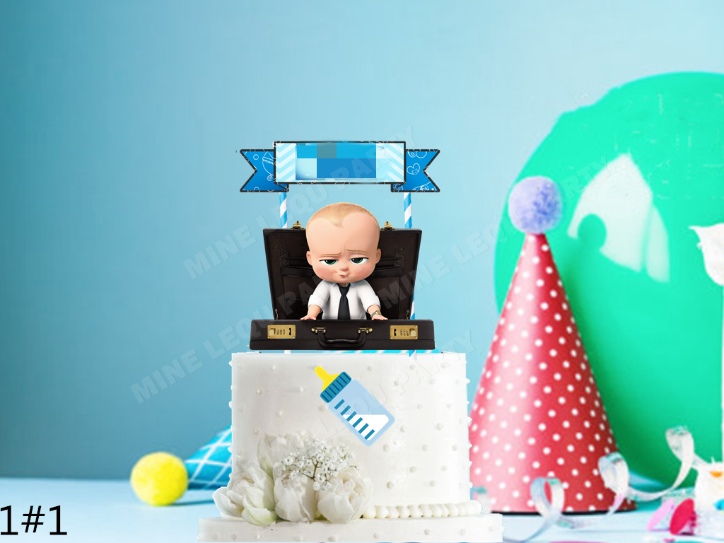 10pcs Baby Boss Invitation Card Birthday Party Wedding Decoration Children Disposable Card