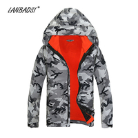 LANBAOSI Outdoor Hardshell Jackets for Men/Women Camo Double Layer Thermal Windproof Waterproof Hiking Skiing Climbing Coat