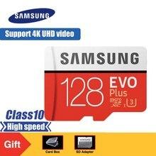 SAMSUNG EVO Plus Micro SD Memory Card 128GB Class10 microSDXC U3 UHS-I TF Card 4K HD with