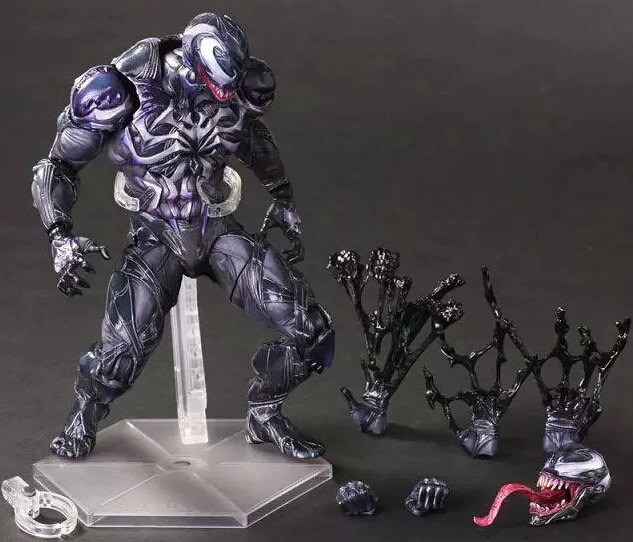 Spider Man Action Figure Venom Spider Collection Model PLAY ARTS spide man spier man Venom Play Arts Kai Venom 28D wvw 18cm hot sale movie hero spider man venom play arts model pvc toy action figure decoration for collection gift