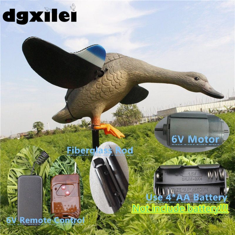 Spain Hunting 6V Plastic Decoy Duck Decoy With Spinning Wings Duck Hunting Device From XileiSpain Hunting 6V Plastic Decoy Duck Decoy With Spinning Wings Duck Hunting Device From Xilei