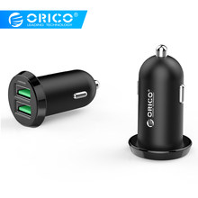 ORICO Dual USB Car Charger 2.4A Intelligent Output 17W Travel Charger for Mobile Phone Cigar Lighter DC 12-24V(China)