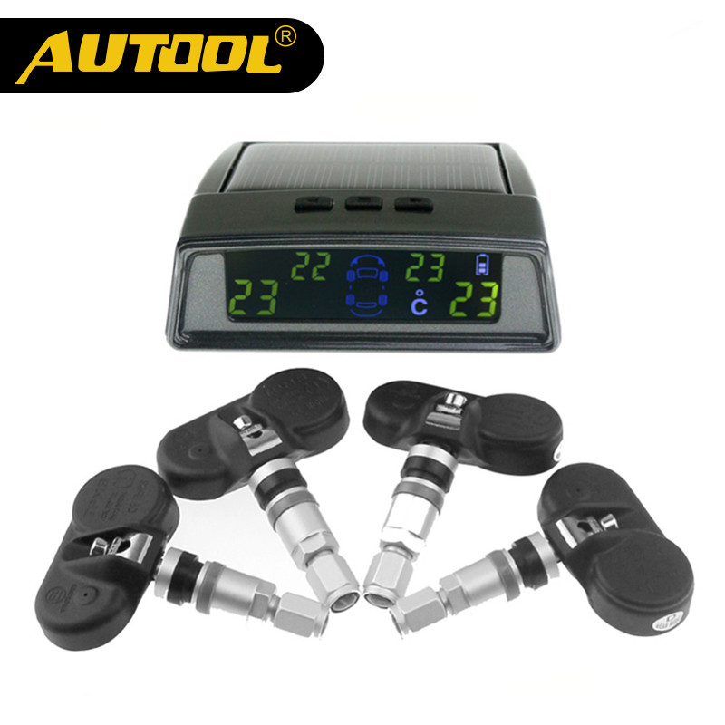 AUTOOL TN400 Wireless Tire Pneumatic Pressure Monitoring TPMS System Monitor 4 Internal Sensors For all car tpms tp620 car tire tire pressure alarm car tire diagnostic tool support bar and psi tire pressure monitor car electronics