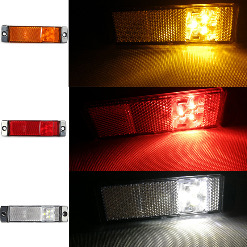 Image 5 - 2 PCS AOHEWEI 12 V 24V LED red side marker light indicator position led lamp sign light for tail light trailer light led truck-in Truck Light System from Automobiles & Motorcycles