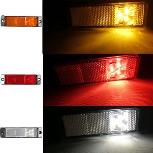 Image 5 - 2 PCS AOHEWEI 12 V 24V LED red side marker light indicator position led lamp sign light for tail light trailer light led truck