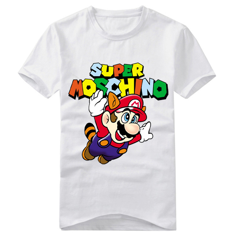 2Colors Super Mario Couples T-shirt Cosplay Costume Cute Mario Printed Short Sleeve Tee Shirt