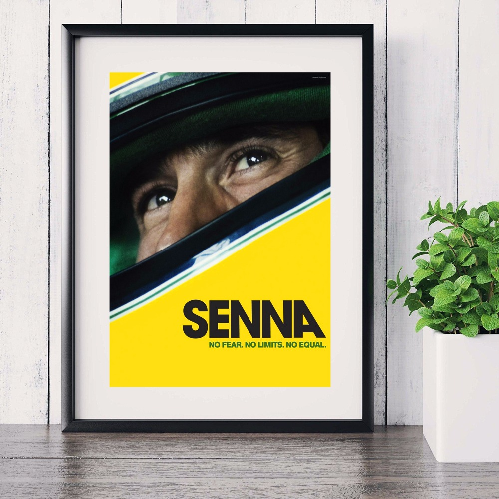 senna classic f1 racer canvas art print painting poster wall pictures for living room home decoration