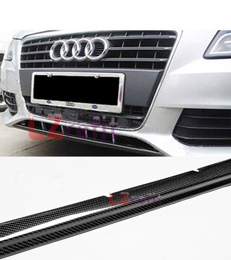 FRONT BUMBER ADD REAL CARBON FIBER LIP SPOILER FOR AUDI A4 B9 2013UP
