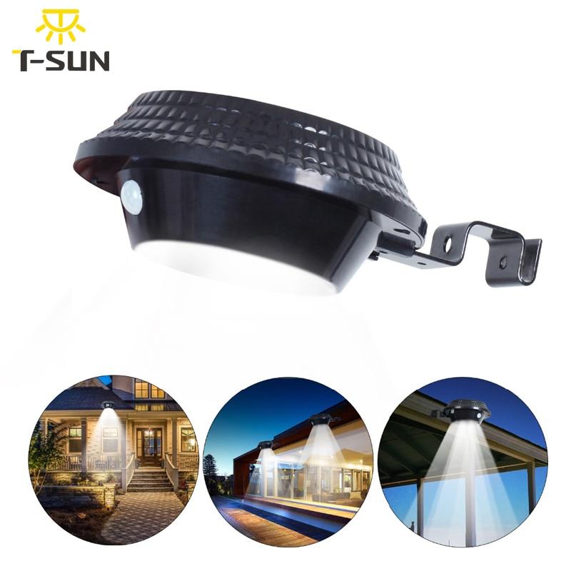 T-SUNRISE Новый Стиль 12 Светодиодный фасадное освещение на солнечных батареях Светодиодный свет Открытый Солнечный прожектор лампа для сада Уо...