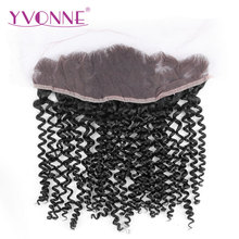YVONNE Malaysian Curly Virgin Hair Lace Frontal 13×4 Natural Color 100% Human Hair Products Free Shipping