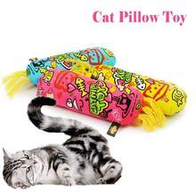 1 Pcs Cat Cute Cartoon Cat Pillow Interactive Toy Catnip Supplies Cat Pillow Containing Organic Catnip