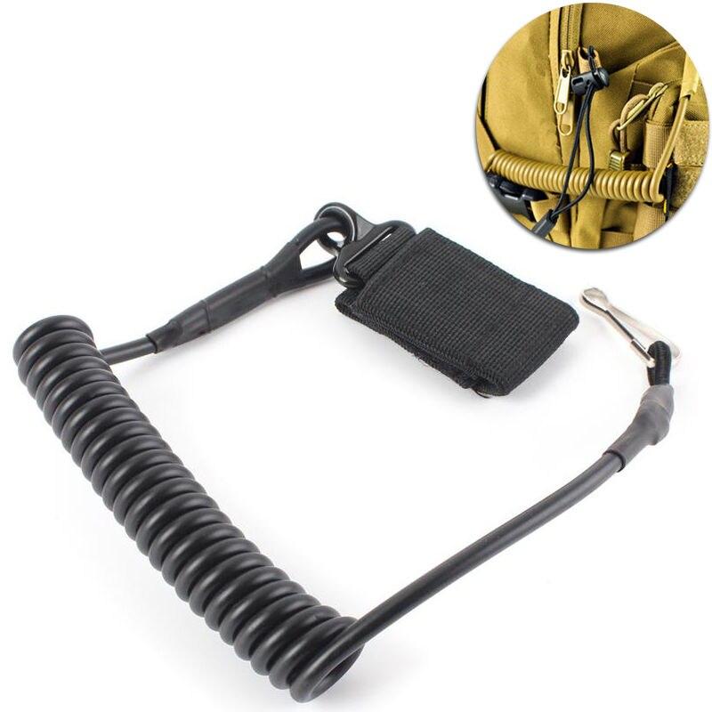 Reguleeritav sling Taktikaline püstoli käsipüssi turvaline elastne kaelapael kevadel, mis on varustatud lindiga lindiga.
