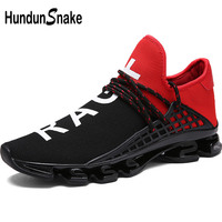 Hundunsnake Outdoor Chaussure Homme Sport Shoes Men Trail Running Shoes For Men Sneakers Black Men's Sports Shoes Women Red T286