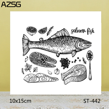 AZSG Realistic Fish Sashimi Clear Stamps For DIY Scrapbooking/Card Making/Album Decorative Silicone Stamp Crafts