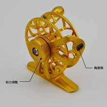 New Ultralight 55mm metal Fly Fishing Reel  Vent with brake force Aluminum Fly Reel with The pilot hole Line Capacity 0.3mm-150m