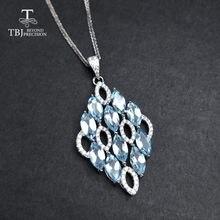 Женское ожерелье с подвеской tbj украшение из серебра 925 пробы