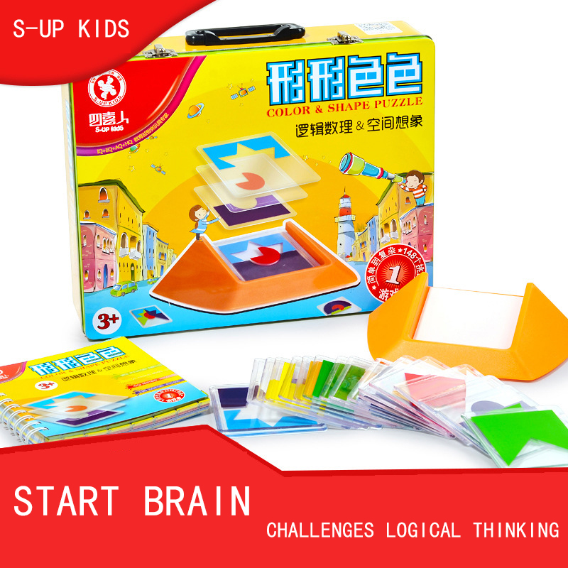 Color & Shape Puzzle For Kids Thinking Training Create Ability Color Recognition Children Early Educational Toy Kindergarten children wooden mathematics puzzle toy kid educational number math calculate game toys early learning counting material for kids