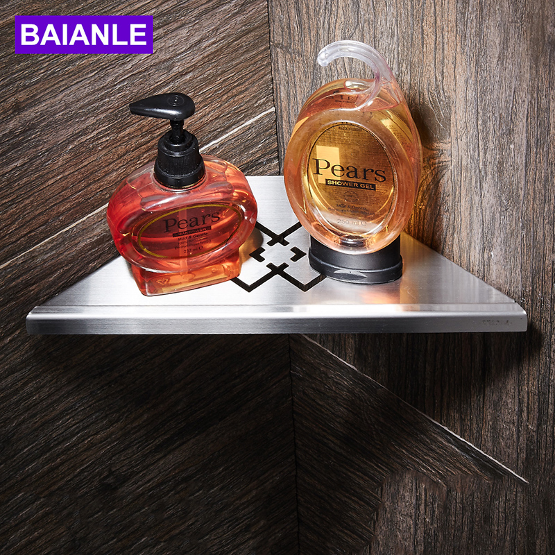 BAIANLE Bathroom Shelves Stainless Steel Brushed Nickel Wall Mount ...