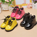 Children's Shoes Boots Sinning PU Leather Boots Cotton Fabric Inner Liner Baby Boys Girls Shoes Boots Toddler Shoes