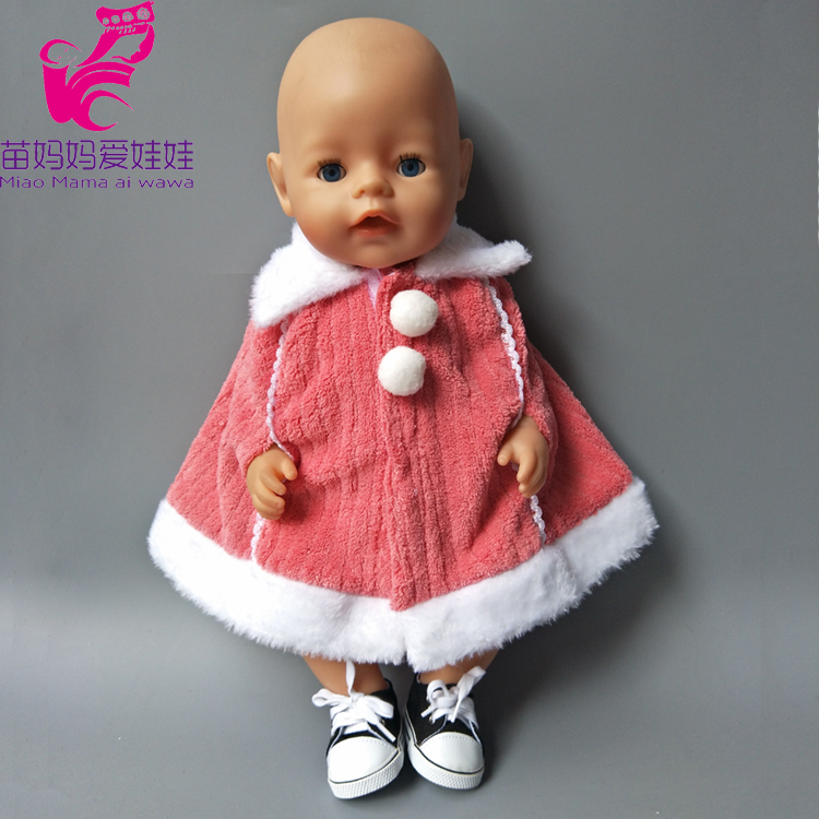 clothes for Baby born dolls Winter Fur Cloak coat windbreaker Clothes for 18 inch doll outwear sets girl Christmas dress american girl doll clothes batman cloak dress cosplay costume doll clothes for 16 18 inch dolls madame alexander doll mg 201