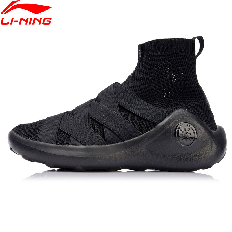 Li-Ning 2018 New Women R GS Wade Culture Shoes Sock-Like Li Ning Sports Shoes Mono Yarn Wearable Breathable Sneakers AGWN014