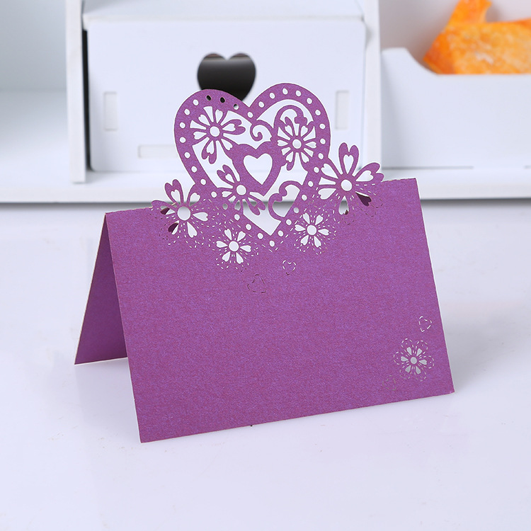 50 Piece/lot Creative Fashion Flower Heart Printable Wedding ...