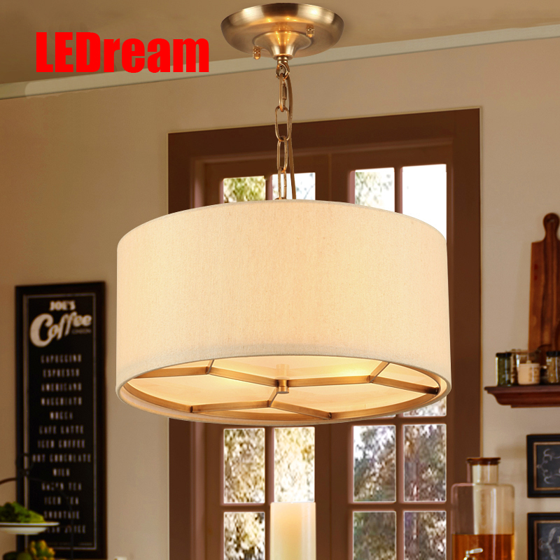 Country full copper pendant lamps  contemporary and contracted  droplight restaurant bedroom lamp