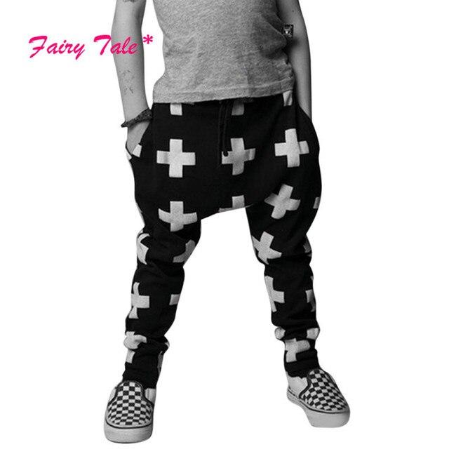 1056b51b37d83 Enfant en bas âge Fille Garçon Casual Harem Pantalon Baggy Hip Hop Danse  Pantalon de Survêtement
