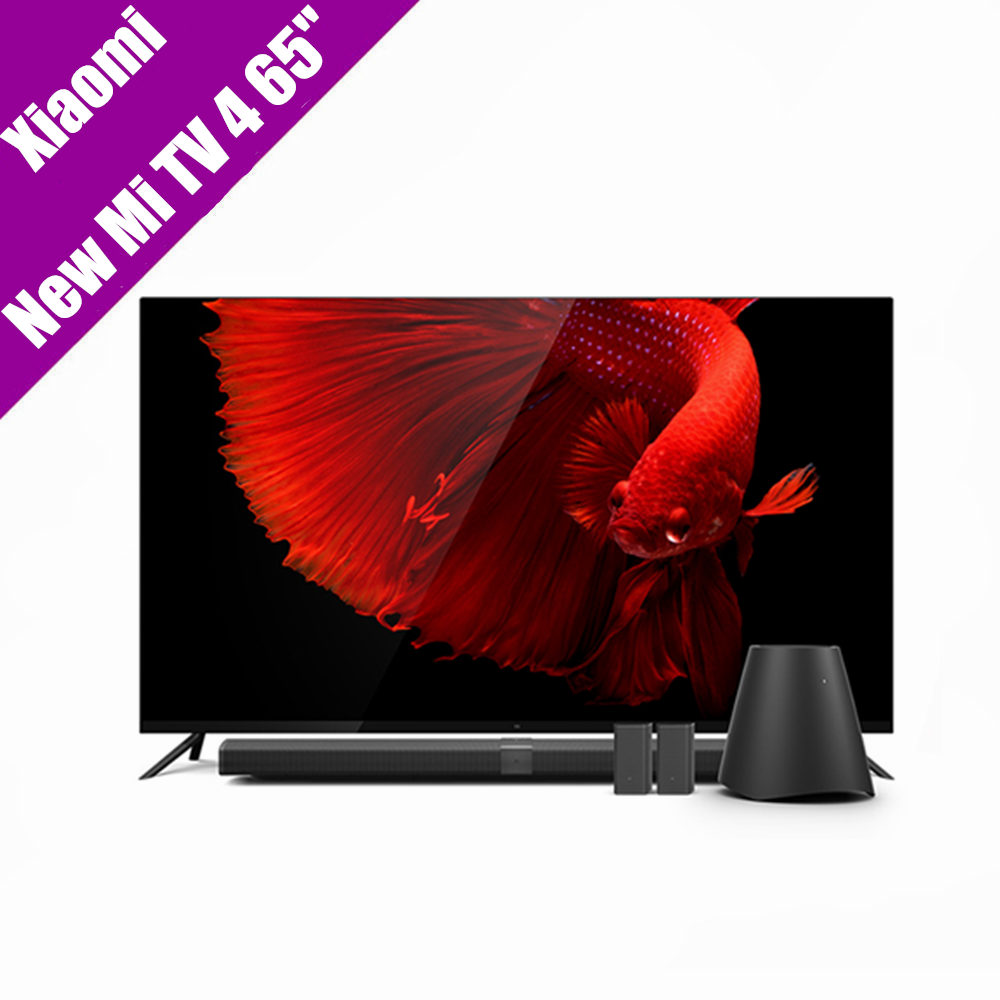 Original Xiaomi Mi TV 4 65 Inchs Smart TV English Interface Real 4K HDR Ultra Thin Television 3D Dolby Atmos WiFi/BLE Connect samsung un65hu9000 65 tv купить в литве