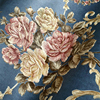 Pastoral Floral Non Woven Fabric Wallpaper 3D Stereoscopic Embossed Background Damascus Flower Wallpaper For Living Room