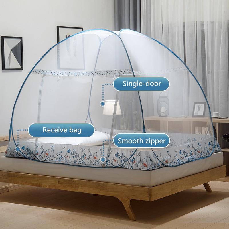 Blue Khaki Summer Mosquito Net For Single Bed Netting Tent Mesh 100 190 110cm Single Door