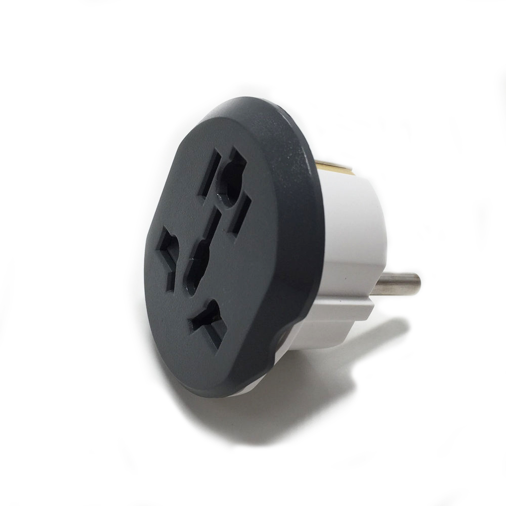 Universal High Quality 16A Euro Converter Plug 2 Round Pin Socket AU US UK CN Plug To EU Wall Plug  AC 250V Travel Adapter