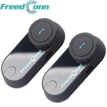 2 шт. FreedConn мотоцикл домофон Bluetooth шлем гарнитура T-COM OS FM 2 всадника BT переговорные Intercomunicador