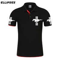 Mustang Polo Brand New Mustang Logo Polo Tee Quick Dry Breathable Sports Outdoor Men Clothing Short Sleeve Top Car Polo shirt